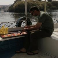 Wachten op de boot