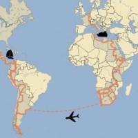 Route rond de wereld